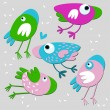 Royalty-Free Stock Imagen vectorial: Vector illustration. Birds.