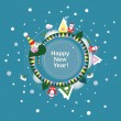 Royalty-Free Stock Vektorfiler: Vector background or greeting card. New Year
