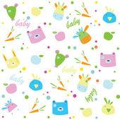 Children's vector background. Animals. — Stock Vector