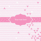 Pink greeting card — Stock Vector