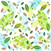Vector background with leaves — Stock Vector