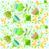 Vector floral background — Stock Vector