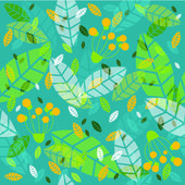 Vector background with foliage — Stock Vector