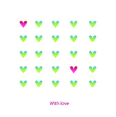 The vector illustration with hearts — Stock Vector