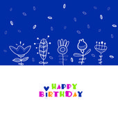 Floral background. Happy birthday. — Stock Vector