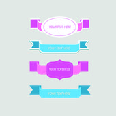Labels and ribbon retro set — Stock Vector