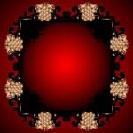 Red Vintage Frame Design For Greeting Card. Eps10. — Stock Vector