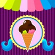 Ice cream poster — Stock vektor #26653863