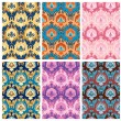 Seamless pattern collection — Stock Vector