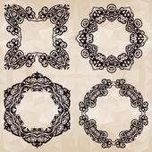 Vector decorative frames (set 23) — Vettoriale Stock