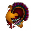 Cartoon Vector Thanksgiving turkey — Stock Vector