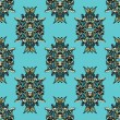 Vettoriale Stock : Blue Seamless Pattern