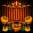 Stock Vector: Helloween Pumpkin Jack Frame