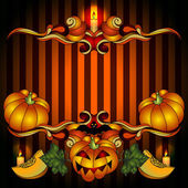Helloween Pumpkin Jack Frame — Vetorial Stock