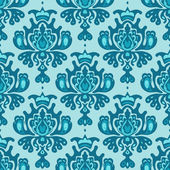 Damask vector seamless pattern — Stock Vector
