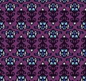 Halloween máscara damasco de patrones sin fisuras — Vector de stock