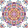 Stock Photo: Handdrawn kaleidoscope seamless