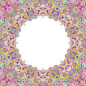 Hamddrawn kaleidoscope frame — Stock Photo