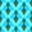 Seamless Pattern Damask Contemporary Vector — ベクター素材ストック