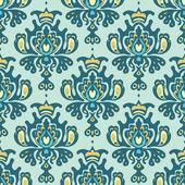 Vecteur de damassé motif sans couture royal — Vecteur