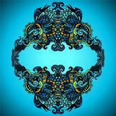 Dekorativa blomstra ram vektor — Stockvektor