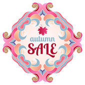 Cute background vector autumn sale — Stock Vector