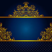 Royal Vector Frame Background — Stock Vector