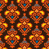 Ethnic Seamless pattern Damask — Stock Vector