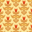 图库矢量图片: Seamless Damask Pattern Vector Tiles