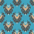 图库矢量图片: Seamless Vector Vintage Pattern