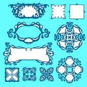 Vector Set of Design elemets and borders — Stock vektor