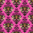 Damask heart  seamless pattern vector — 图库矢量图片