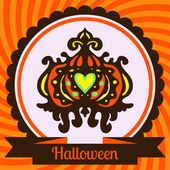 Halloween pumpkin Poster Vector — Stock Vector