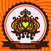Halloween pumpkin Poster Vector — Stock Vector