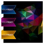Banner vector abstracto bookmark — Vector de stock
