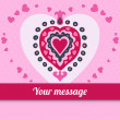 Cute love heart vector in doodle style — Imagen vectorial