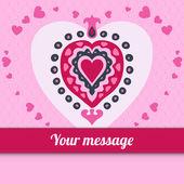 Cute love heart vector in doodle style — 图库矢量图片