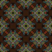 Ethnic seamless pattern tile vector — Stock Vector