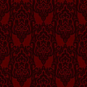 Revival Red Seamless pattern vector damask — Stock Vector