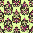 图库矢量图片: Seamless pattern damask Paisley vector