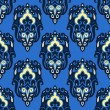 Stockvektor : Seamless pattern vector winter damask blue