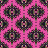 Pink abstract seamless pattern medallion vector — Stock Vector