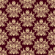 图库矢量图片: Damask vector background seamless pattern