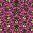 图库矢量图片: Damask tribal seamless vector pattern