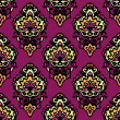 图库矢量图片: Colorful damask flower seamless vector pattern
