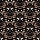 Vintage damask seamless pattern background — Stock Vector