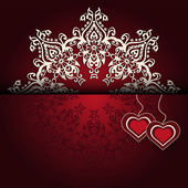 Royal Luxury Valentines Day lace background — Stock Vector