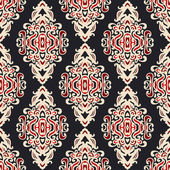 Seamless pattern vector damask wallpaper — Stok Vektör