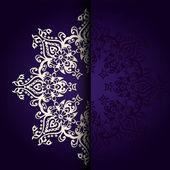 Vector Elegant background lace medallion — Stock Vector