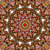 Festive mandala pattern kaleidoscope design — Stock Photo